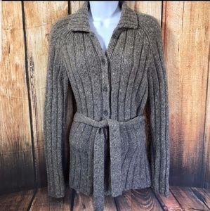J. Crew wool blend chunky knit cardigan sweater